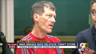 Man accused of breaking into Tri-State thrift store - Video