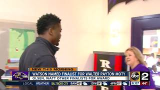 Benjamin Watson finalist for big award - Video