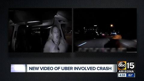 Police release video of deadly Uber crash in Arizona
