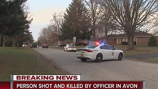Deadly officer-involved shooting in Avon - Video