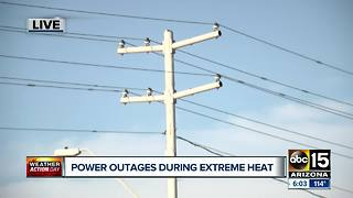 Neighborhood hit by power outages during record breaking heat in Maryvale - Video