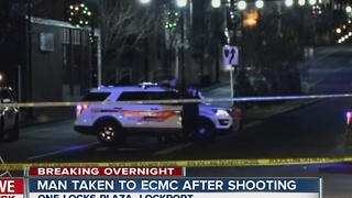 Man rushed to ECMC after shooting in Lockport - Video