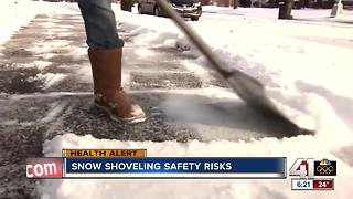 Snow shoveling safety risks - Video