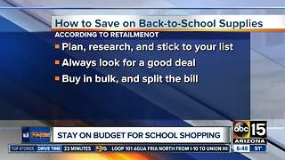 How to stay on budget while school shopping - Video