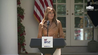 First Lady Melania Trump's Be Best Initiative Launch (Full Speech) - Video