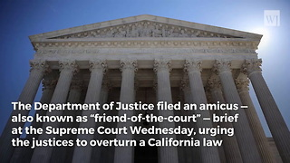 DOJ Joins Lawsuit Against California in Support of Pro-Life Crisis Pregnancy Centers - Video