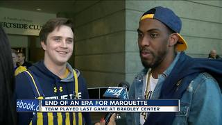 Marquette University men's basketball team ends Bradley Centure tenure with a win - Video
