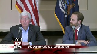 Gov. Snyder reflects on 8 years in office