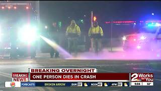 One person dead after car crash in Claremore - Video