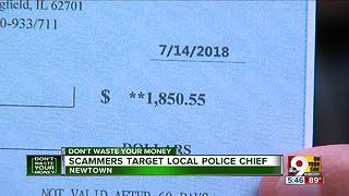 Scammers target local police chief - Video
