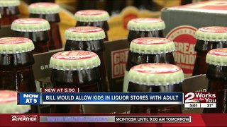 Bill would allow children 12 and under in liquor stores with an adult