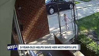 3-year-old helps save mother's life - Video