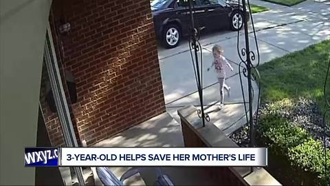 3-year-old helps save mother's life