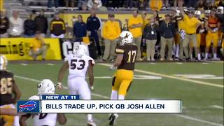 Bills trade up twice in first round
