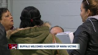 Hundreds of hurricane survivors come to WNY for help - Video