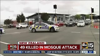 49 killed in mosque attack in New Zealand
