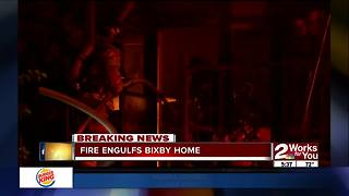 Fire destroys home in Bixby overnight - Video