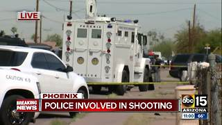 Phoenix police involved in shooting near 33rd Ave/Van Buren - Video