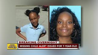 Missing Child Alert issued for 7-year-old Florida girl