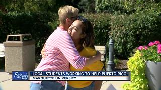 Marquette students band together to aid in Hurricane Maria relief - Video