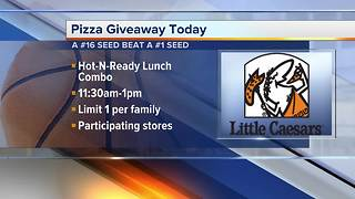 How to get free Little Caesars Pizza on Monday after March Madness upset - Video