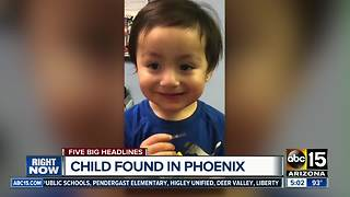 Wandering toddler found in Phoenix - Video