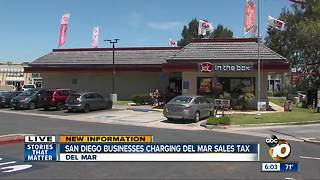 San Diego businesses charging Del Mar sales tax - Video