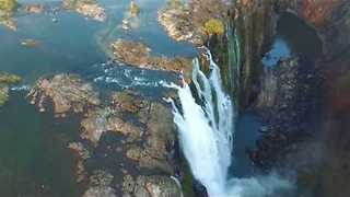 Drone Footage Captures Stunning Sights Over Victoria Falls
