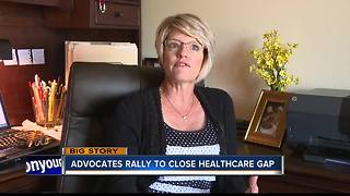 Advocates rally to close healthcare gap - Video