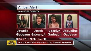 AMBER Alert canceled for four Manatee County children - Video