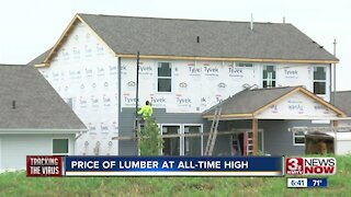 Price of lumber at all time high