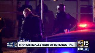 Man seriously hurt after being shot in Glendale