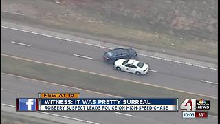 Rush hour police chase crosses state line - Video