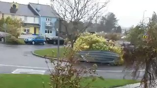 Ophelia Blows The Roof Off Apartment Building in Athlone - Video