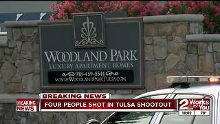 Four people shot in Tulsa shootout