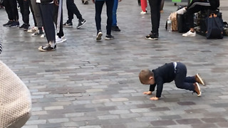 Baby Shows Off His Break-Dancing Skills - Video