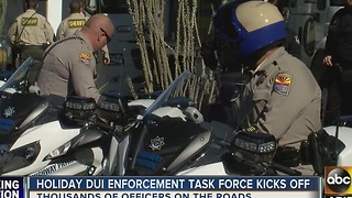Holiday DUI task force kicks off in Phoenix