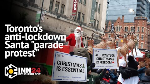 [PROMO] Toronto's antilockdown groups organie Santa protest parade | December 2020