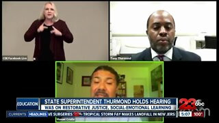 State Superintendent Thurmond holds hearing on special education funding