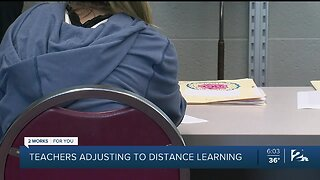 Teachers adjusting to distance learning