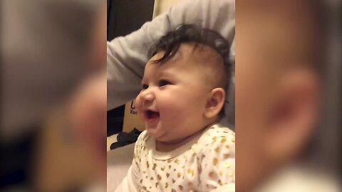 Baby is Delighted by Cardboard Box