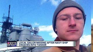 Local sailor missing after USS John S. McCain crashes into tanker