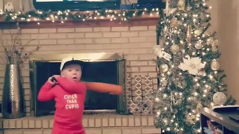 This baseball prodigy absolutely crushes an indoor home run!