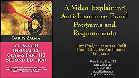 A Video Explaining Anti-Insurance Fraud Programs and RequirementsInsurance Claims Law