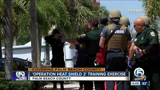 Law enforcement participates in county-wide emergency training - Video