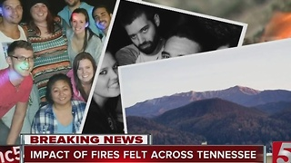 East Tennessee Fires Impact People Across The Mid-State - Video