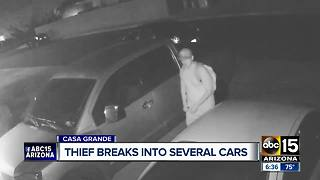 Police searching for serial car thief in Casa Grande - Video