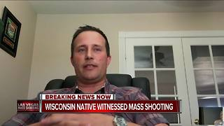 Wisconsin native witnessed mass shooting - Video