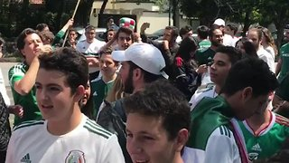 Mexico Fans Surround South Korea Embassy After Team Qualifies For Next Round in World Cup