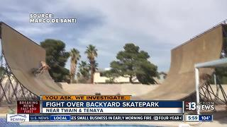 Backyard skatepark upsetting neighbors - Video